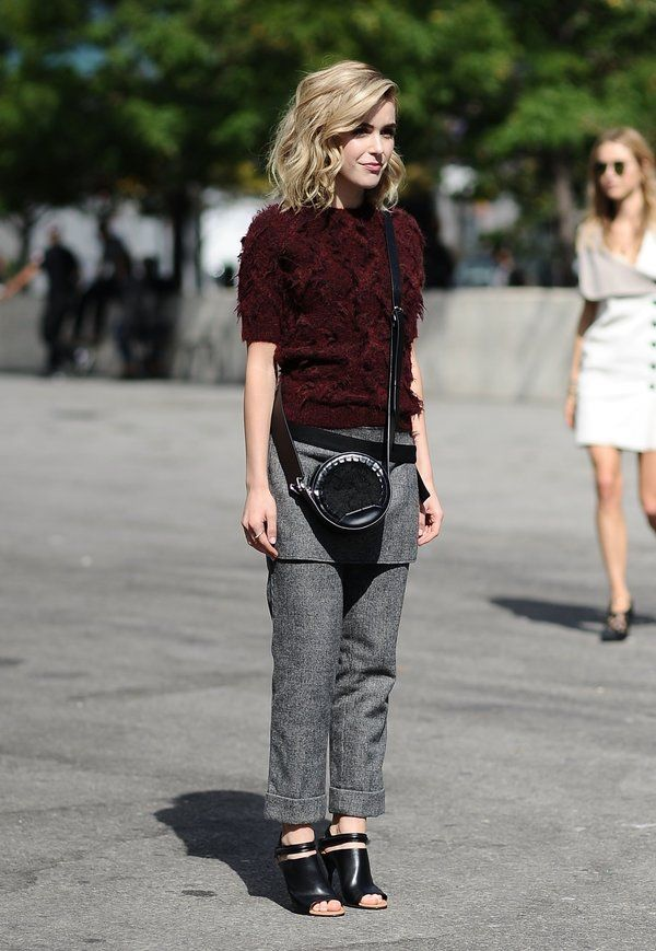 Try out quirky trends this fall -- Kiernan Shipka in 3.1 Phillip Lim
