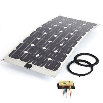 Biard 100W Watt Semi Flexible Solar PV Panel Kit With 10Amp Waterproof Controller & 5 meter Cable For Boat Caravan. Want it? Own it? Add it to your profile on unioncy.com #gadgets #tech #electronics #gear #solar #green