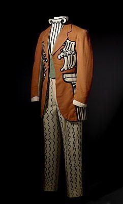 "Giorgio de Chirico, costume for a male guest, ""Le Bal"", Ballets Russes of Serge Diaghilev, 1929"