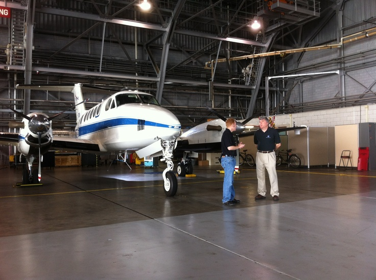 The Co-Host, Blair Allen, interviewing Richard Ferrare, Atmospheric Scientist at NASA Langley Research Center.
