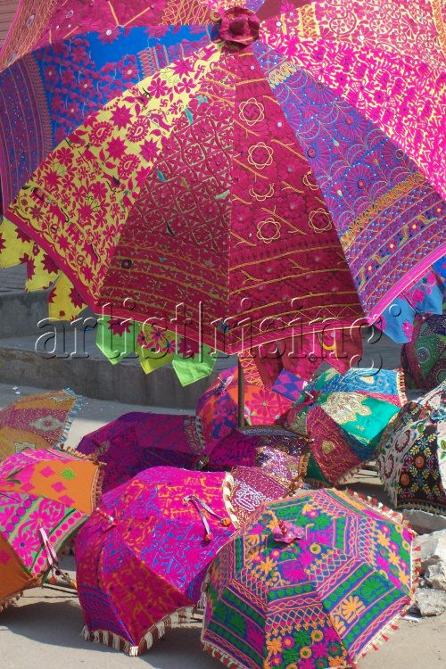 India - Rainbow Umbrellas - Photography at ArtistRising.com                                                                                                                                                                                 More