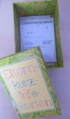Organisation in der Grundschule: Elternkurzinfo