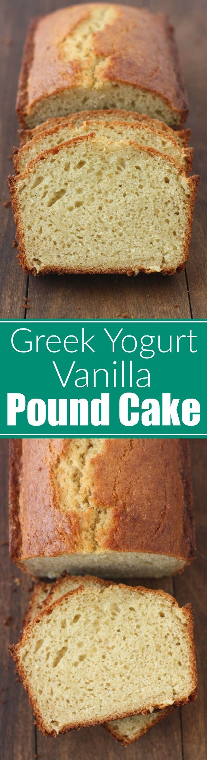 Greek Yogurt Vanilla Pound Cake - Tastes Better From Scratch