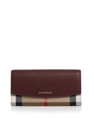 Burberry House Check Grainy Leather Porter Wallet | Bloomingdale's