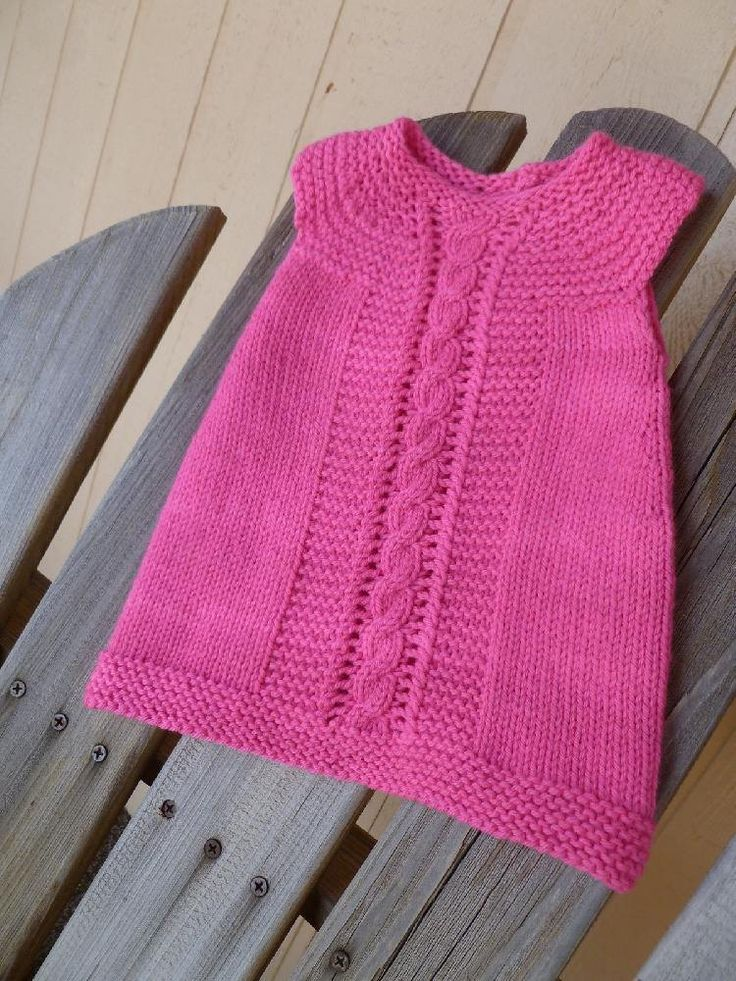 Dillan is a sweet dress that will grow with your baby girl into a tunic.Top down design, with an A-line cut, knit mostly in the round.The lace and cables are charted and written out.Yarn – Blad Dyeworks Eaton DK in Pink Parasol Needle - 6 us (4.00 mm) or what you need to get gauge Gauge - 20.0 sts