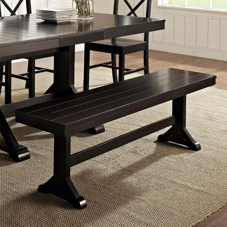 Walker Edison Furniture Company Millwright 6 Piece Black: 40 Best Black Dining Table Ideas Images On Pinterest