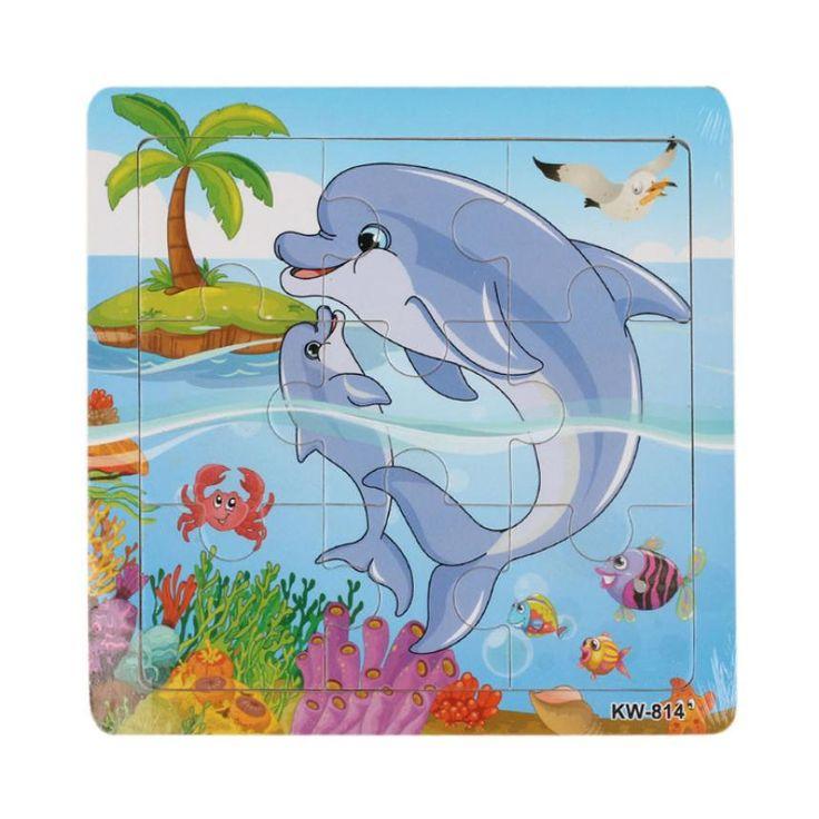 2016 di Alta Qualità Delfino Puzzle di Legno Giocattoli Per bambini Educational Toy Puzzle Rompicapo Puzzle Bambino giocattoli di Legno di Puzzle giocattolo