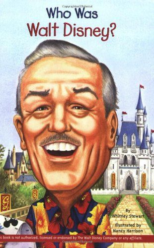 """Who Was Walt Disney?"" - a wonderful book for early elementary age children!  @Whitney Michelle #Disneyland #Disney"