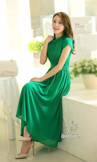 Bayan uzun şifon  elbise  ,bayan elbise,online elbise,ucuz elbise,elbise satın al,elbise,iş elbisesi