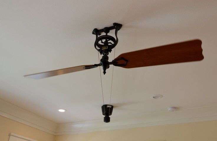 1000 ideas about pulley on pinterest lamps table lamps and pulley light - Lovely vintage ceiling fan ideas ...