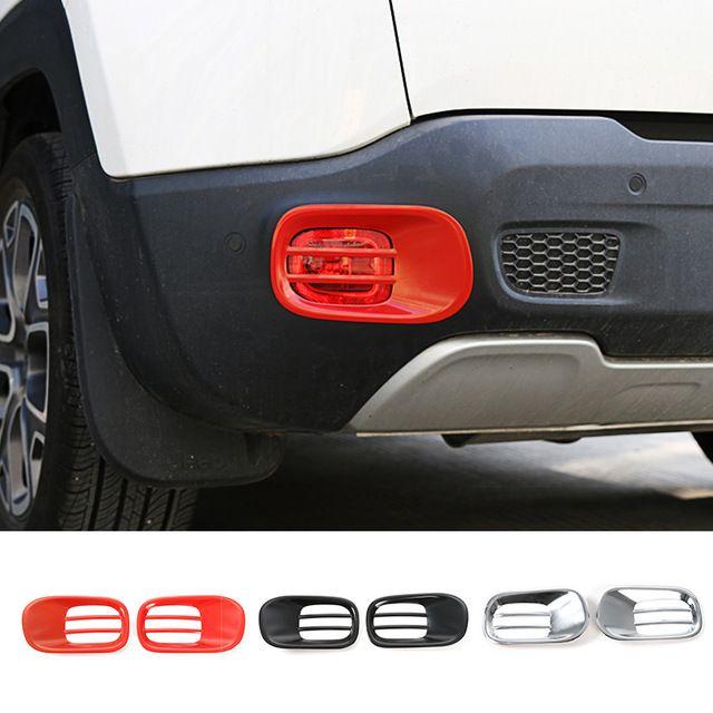 Les nouvelles Collections De Fer Arrière Brouillard Couvercle de La Lampe Garniture Arrière Lampe Cagoules pour Jeep Renegade 2015 up