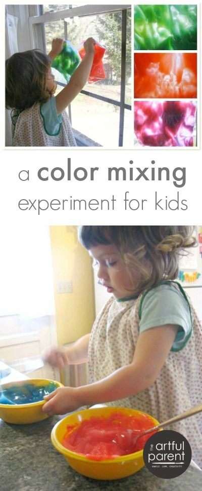 A Color Mixing Experiment for Kids