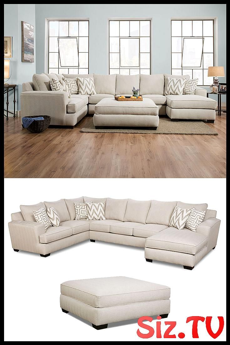 Colonist Oatmeal Sectional With Chaise By Corinthian Colonist Oatmeal Sectional With Cha Stylish Living Room Living Room Furniture Layout Family Room Furniture