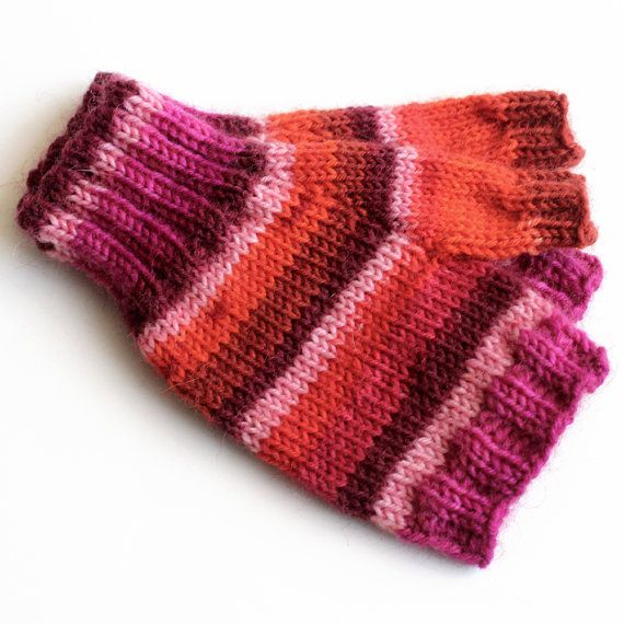 Fingerless Gloves Knitting Pattern For Toddlers : Toddler Fingerless Gloves. Hand Warmers. Knit by ...