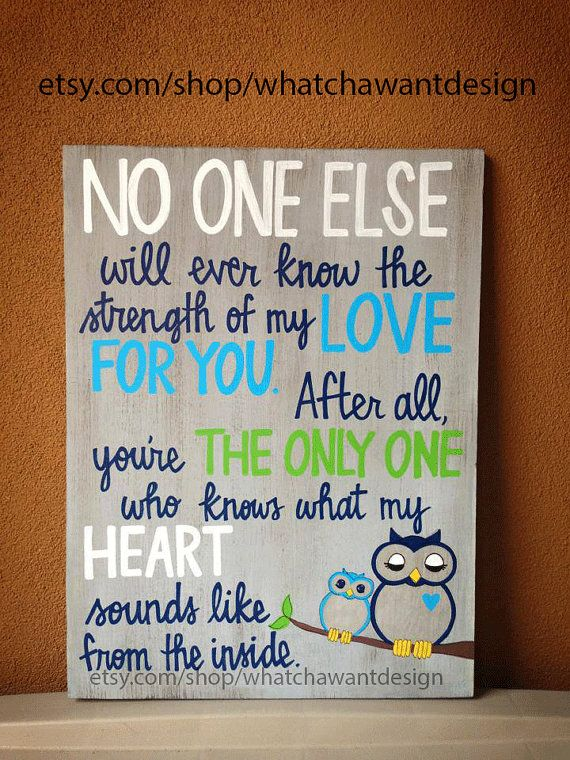 LOVE THIS QUOTE! Custom HandPainted sweet quote for baby nursery by WhatchawantDesign