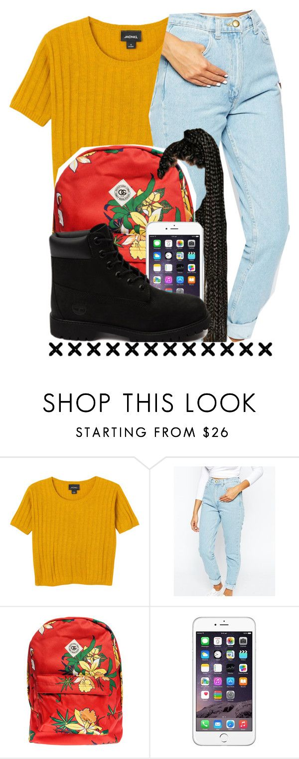 """90's style "" by xstay-trinox ❤ liked on Polyvore featuring Monki, American Apparel, OBEY Clothing and Timberland"