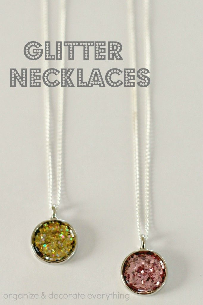 Glitter Necklaces - Organize and Decorate Everything