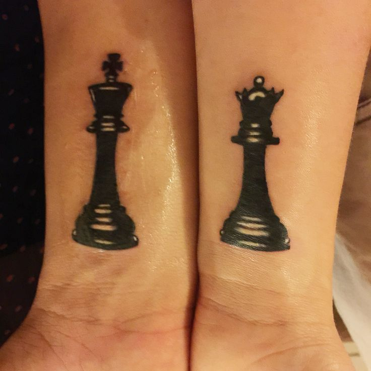 Chess piece tattoo  Matching tattoo Queen and king