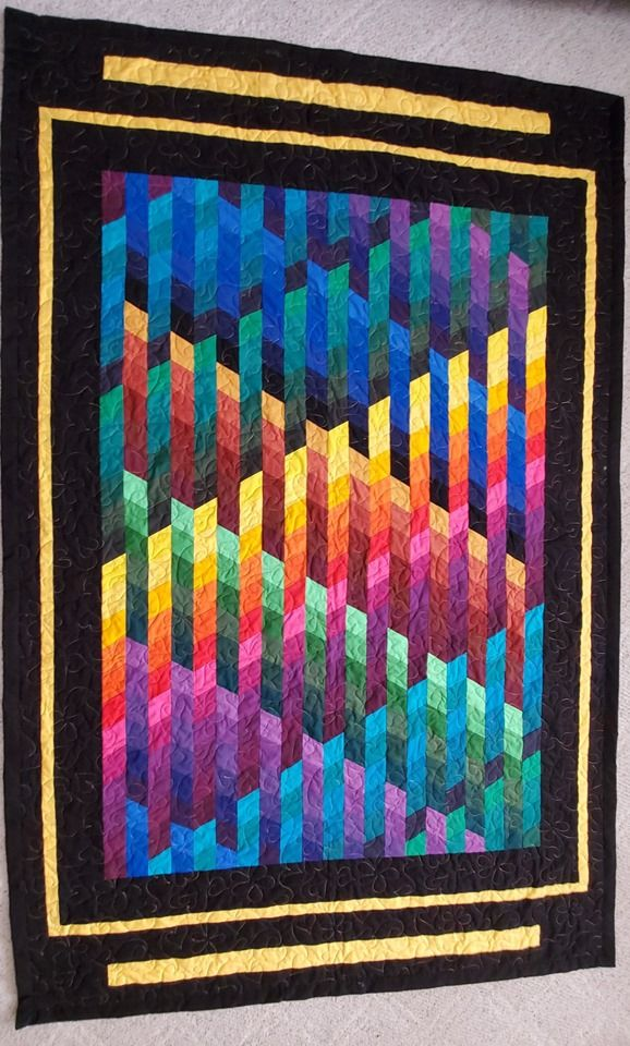 Pin By Marianne Kruse On Quilts Bargello Quilt Patterns Modern Quilt Patterns Rainbow Quilt