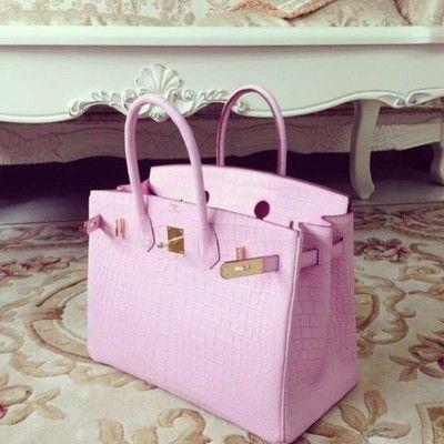 Pink Croc Hermes Birkin..