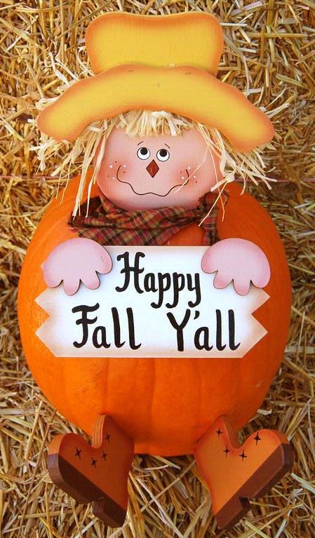 Pumpkin Poke - Fall Scarecrow - Happy Fall Y'all