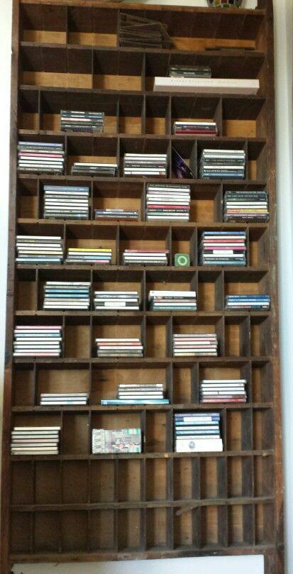 Old postal letter sorter that I converted to CD storage unit.