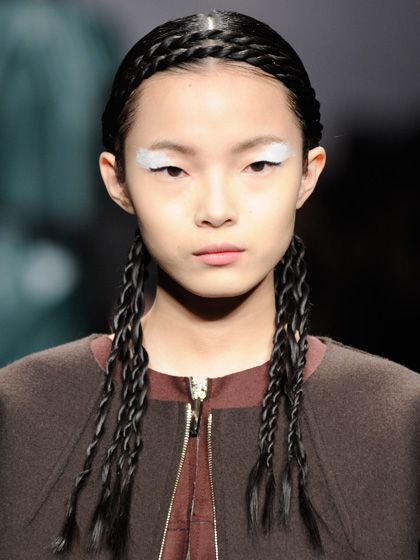 Fendi Fall 2012 crown of rope twists and corn rows