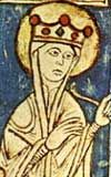 Eleanor of England, Queen of Castile (1162 - 1214). Known as Leonor in Castile. Daughter of King Henry II and Queen Eleanor of Aquitaine. She married Alfonso VII of Castile and had eleven children.