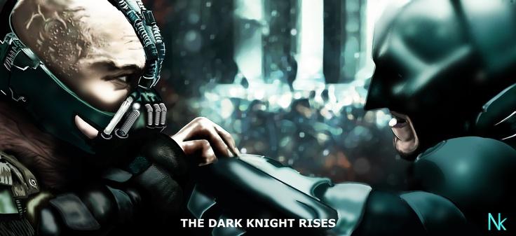 The Dark Knight Rises poster - Digital Painting