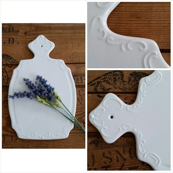 Vintage Cheese Cutting Board. This is a great vintage item. This beautiful ceramic cutting board would be a great addition to any cottage chic décor.
