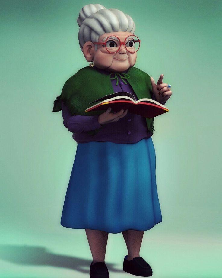 Grandmother cartoon #Cartton #Zbrush #3D # Grandmother