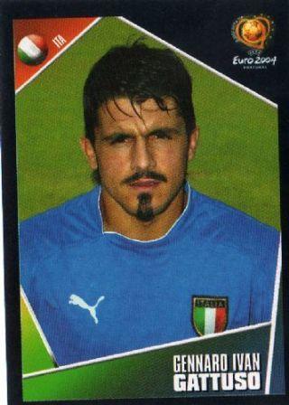 Gennaro Gattuso of Italy. Euro 2004 card.