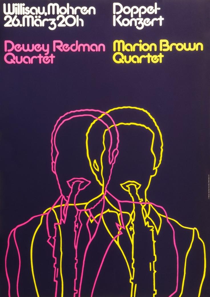 Jazz Doppelkonzert Willisau. 1977. Designer: Grafik Studio Niklaus Troxler, Willisau. Carnegie Mellon Swiss Poster Collection