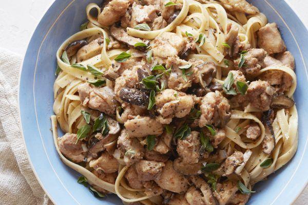 Mushroom Chicken Marsala Pasta