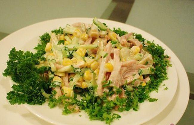 Итальянский салат с ветчиной