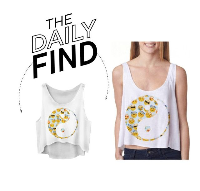 """Daily Find: Fioforma Emoji Crop Top"" by polyvore-editorial ❤ liked on Polyvore featuring DailyFind"