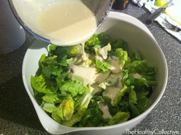 Skinny Caesar Salad Dressing | Healthy Living | Pinterest
