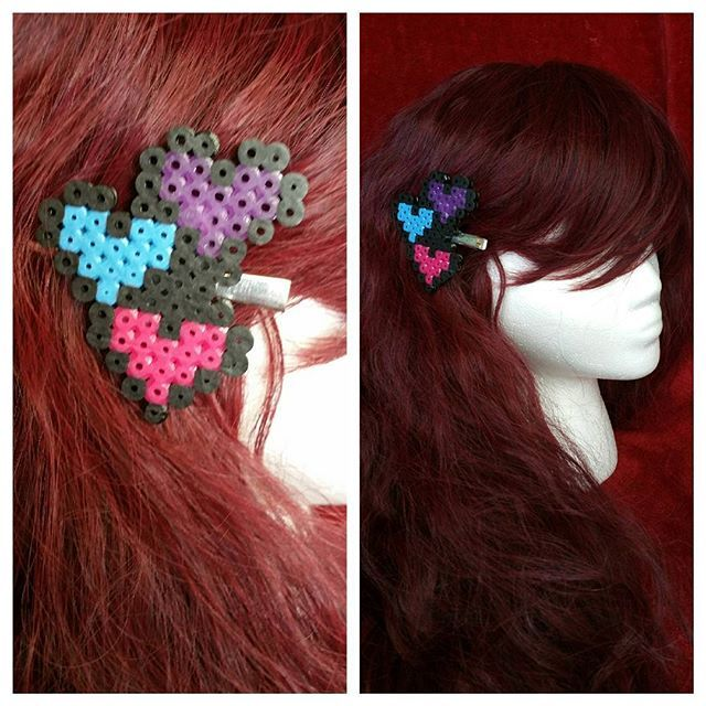 Soon to be for sale. Perler bead clips custom colors can be made. #perler…