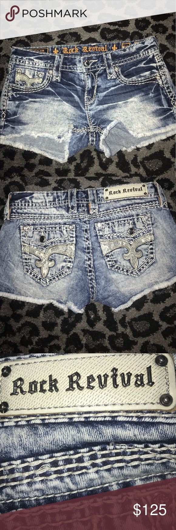 Rock revival jean shorts 26 Octavia Like new. Worn 1 time! Offers welcome. Will trade for rock revival Boris jean shorts 26 or 27. Rock Revival Shorts Jean Shorts