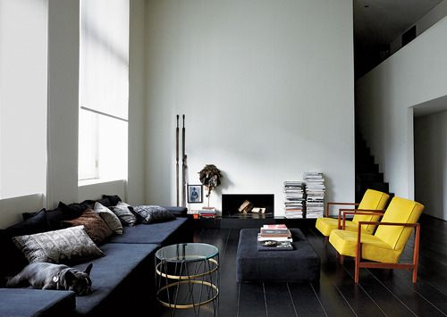 comfy contemporary couch (via Ulrika Lundgren - Interactive Feature - T Magazine)