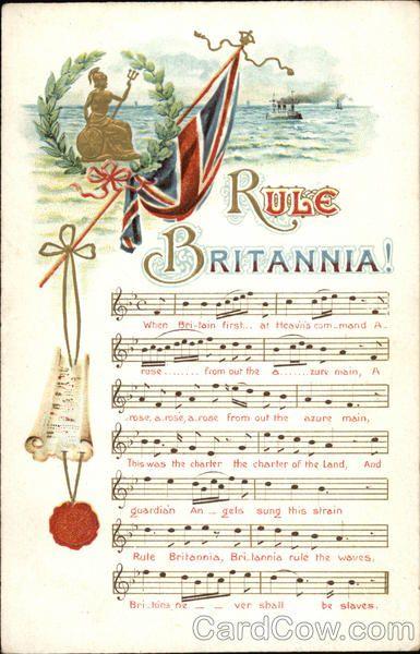 Rule Britannia! with Flag & Music Songs & Lyrics