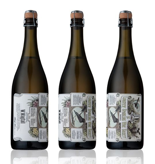 """Designed by Voice   Country: Australia """"It wouldn't be a stretch to claim that birds are somewhat over represented on wine labels. When Voice was given the task of designing the packaging for Longview Vineyard's sparkling wine, W.Wagtail, they recognised the importance of creating something that really stood out from the existing flock of bird themed labels."""