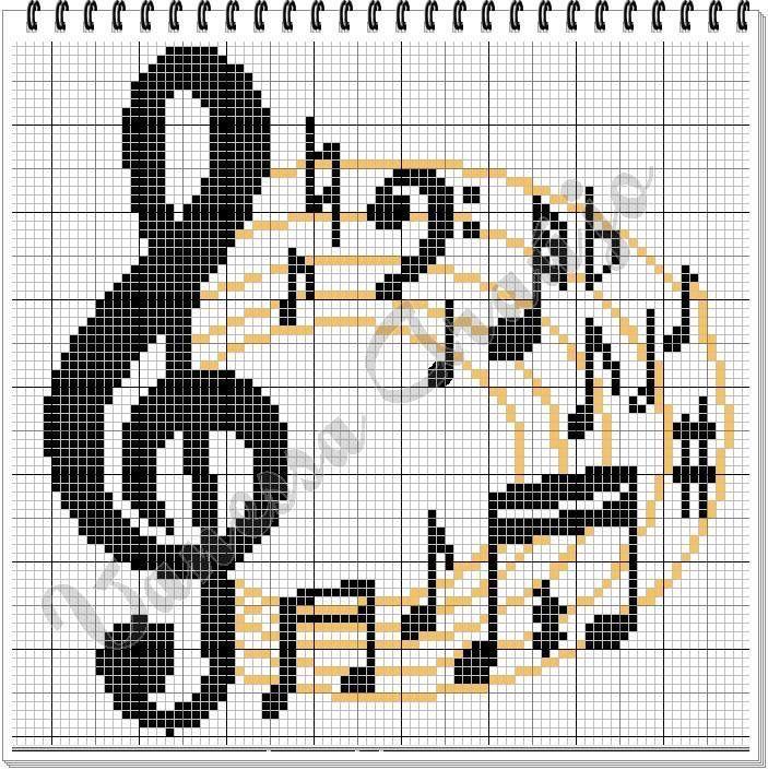 Music cross-stitch