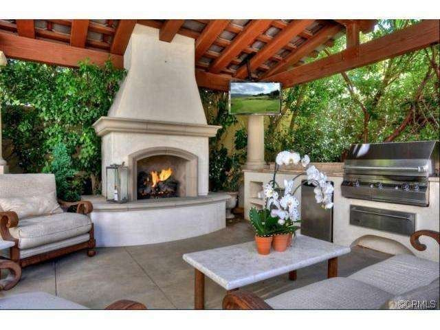 Memorial Day Backyard Party Outdoor Cabana With Fireplace BBQ Full KitchenTV