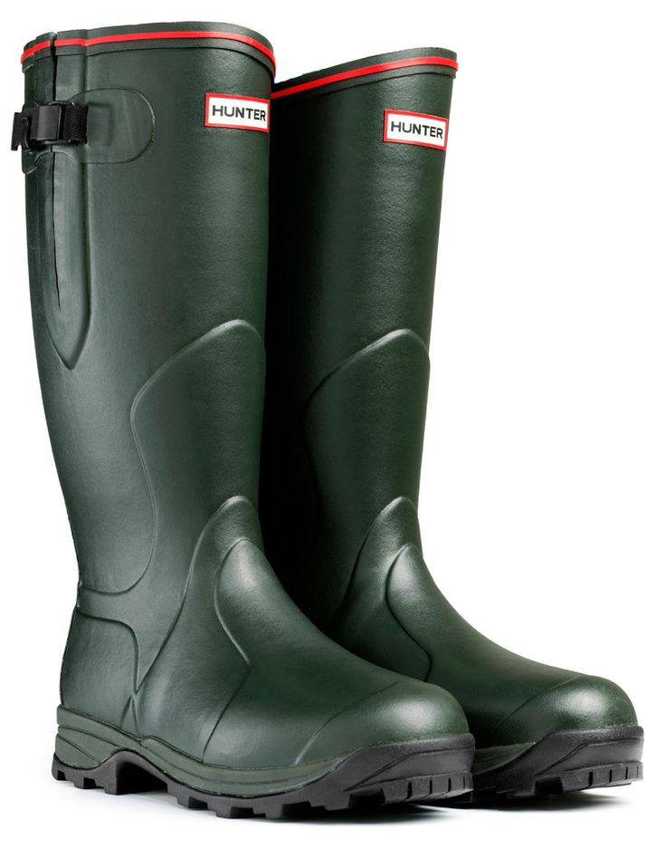 #Hunter Balmoral Neoprene 5mm Wellington Boots - Dark Olive #WellingtonBoots