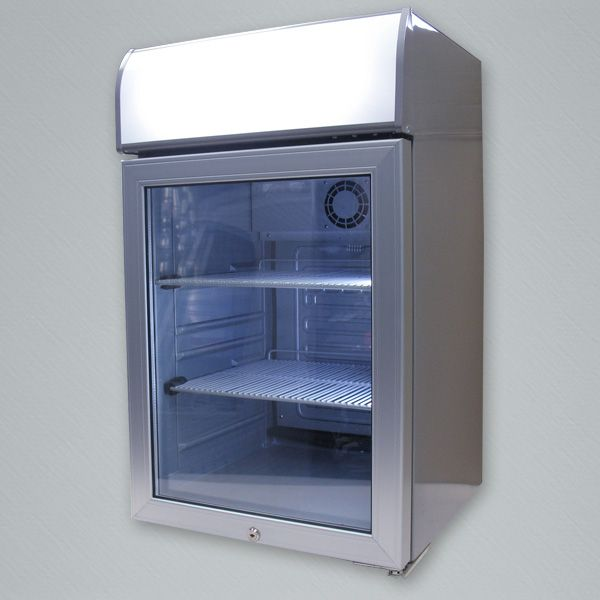 Aspen-85 Countertop cooler. 84L capacity cooler with back-lit LED header display and interior LED lighting.