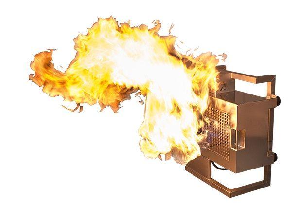 Fuego horizontal accesorio para Vesta  Ideal para permitir que sus FireSales Vesta creen llamas de efecto horizontal. Suministrado en una caja de plástico. Equipado con escudos térmicos para las conexiones de gas y control remoto. Utilice su Vesta horizontalmente. A veces puede ser útil tener una llama horizontal en lugar de una llama vertical para un efecto particular. Este soporte le permitirá colocar el FireSales Vesta en una posición vertical. Los protectores térmicos incorporados están…
