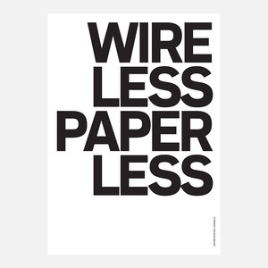 Wire Less Paper Poster , 24€, now featured on Fab.