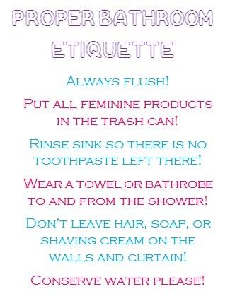 Best Bathroom Etiquette Images On Pinterest Etiquette Random