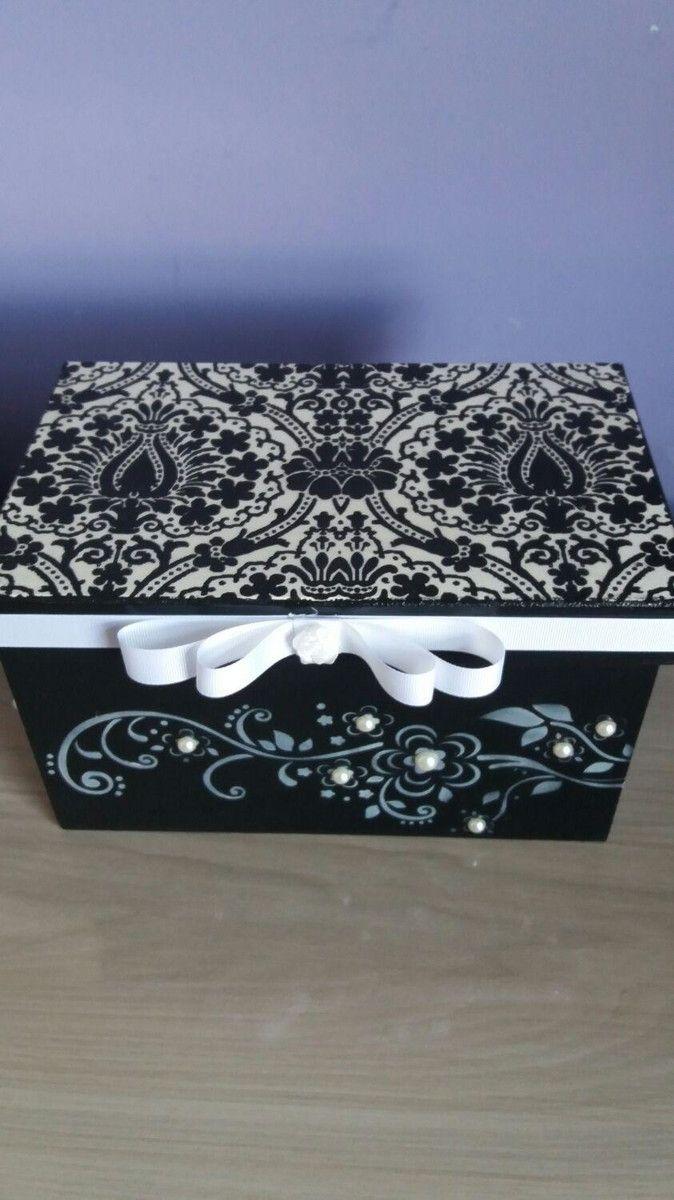 Caixa porta Treco scrap decor estampada com aplicação de stencil.e apliques em mdf Um presente útil, feito com muito carinho que pode ser visto e sentido, Um presente artesanal
